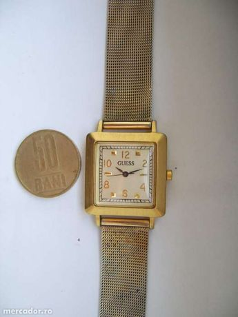 Ceas dama GUESS Japan MOVT Electronic curea tip mesh gold tone