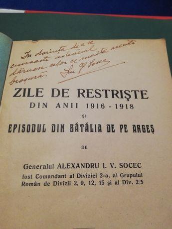 Generalul Alexandru I.V Socec ,Zile de restriste 1916-1918, semnatura