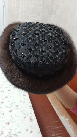 Норковая шапка головной убор