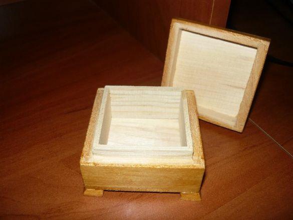 Ръчно изработени дървени кутийки от липа