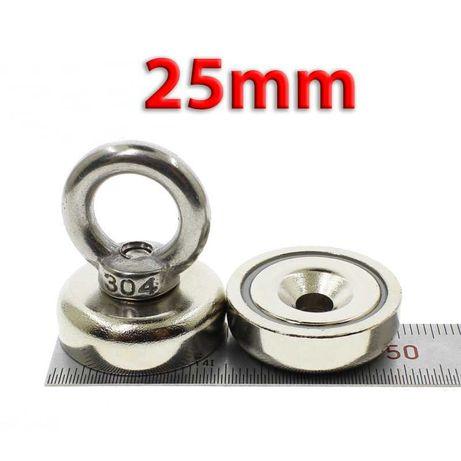 25mm 25кг Магнит за магнитен риболов, с кука (халка) Magnet fishing