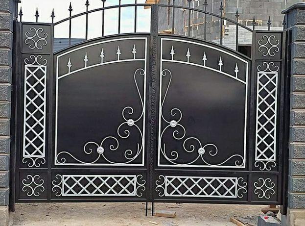 Вороты ворота навес скамейка решетки лестница БЕСПЛАТНО замер ворот