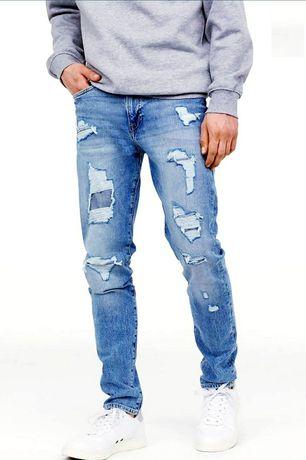 Jeans Denim, blugi H &M, originali, Noi, mărimea 30/32 un S/M.