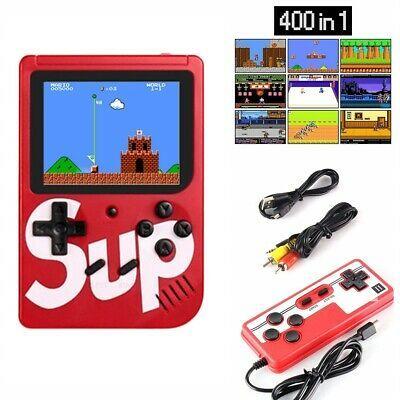 Consola jocuri portabila Multiplayer 400 de jocuri rosu lcd color 3