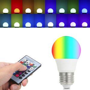 Многоцветна RGB LED крушка с дистанционно и различни режими