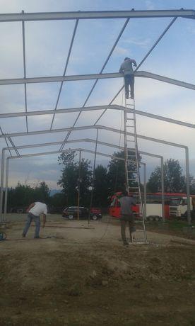 Vand hală metalică 12 m deschidere cu 40 de m lungime, compusă din stâ