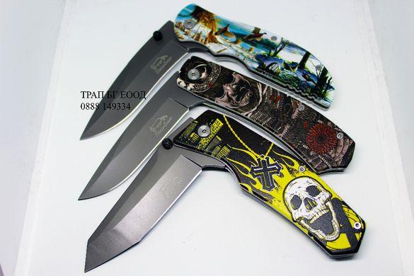 Сгъваем Нож Джобен нож череп skull sgavaem noj djoben noj джобно ножче