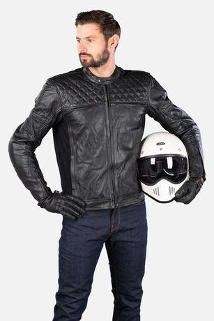 Geaca moto Cafe Racer Bobber din piele cu protectii