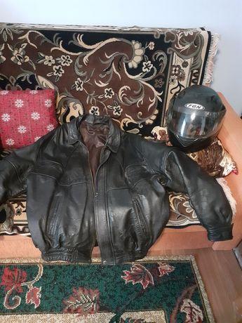 Costum de piele motocicleta+Casca