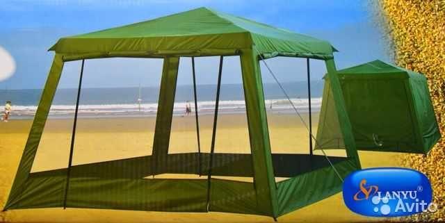 1628 Палатка шатер стальные дуги большая компания туризм без пола