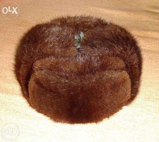 Мужская шапка из благородного натурального меха