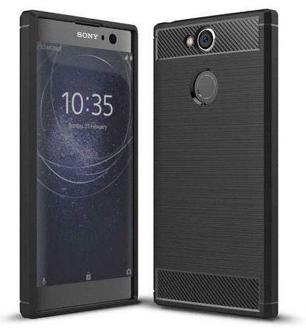 Луксозен черен калъф карбон Carbon за Sony Xperia XA2