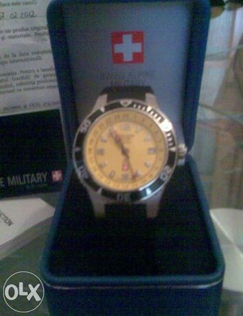Ceas grovana swiss alpine military gmt 1606.1835 - nou/tipla
