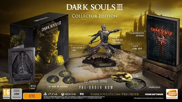 Dark Souls III Collectors Edition ps4 чисто ново