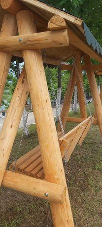 Leagan de lemn masiv