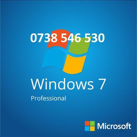 Stick sau DVD original cu Windows 7 Professional licenta Retail, nou!