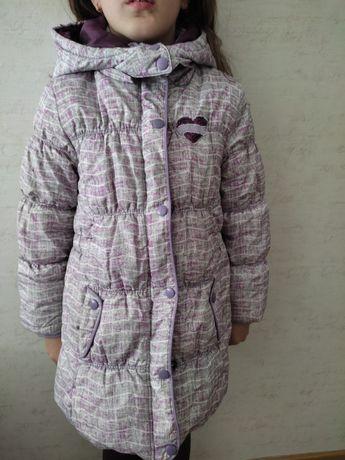 Куртка зимняя очень теплая на 6-7лет