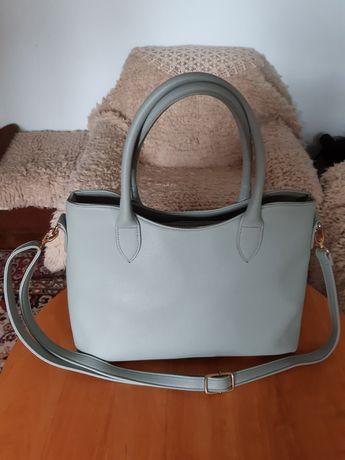Нова чанта дамска синьо-зелена