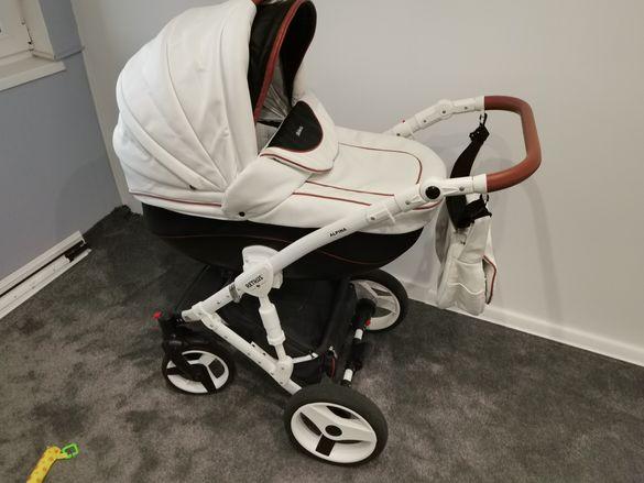 Детска количка 2в1  кожена Retrus Alpina