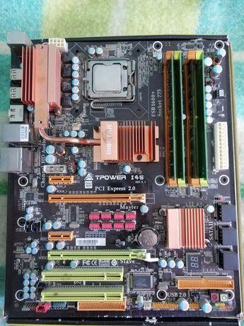 Placa de baza Biostar 775 cu cpu Xeon