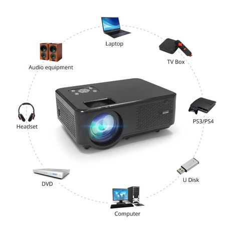 Проектор M8w с андроидом, гугл, ютуб, 30000 ч. HD разрешение, каспи