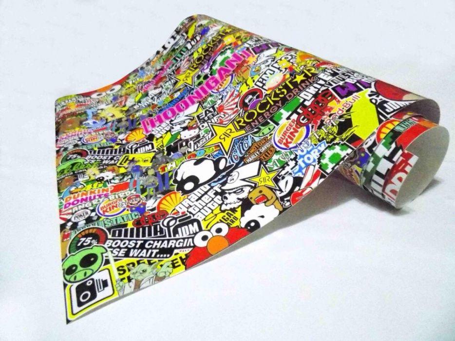 Супер БОМБ стикер ОРИГИНАЛ sticker BOMB 150х50см JDM