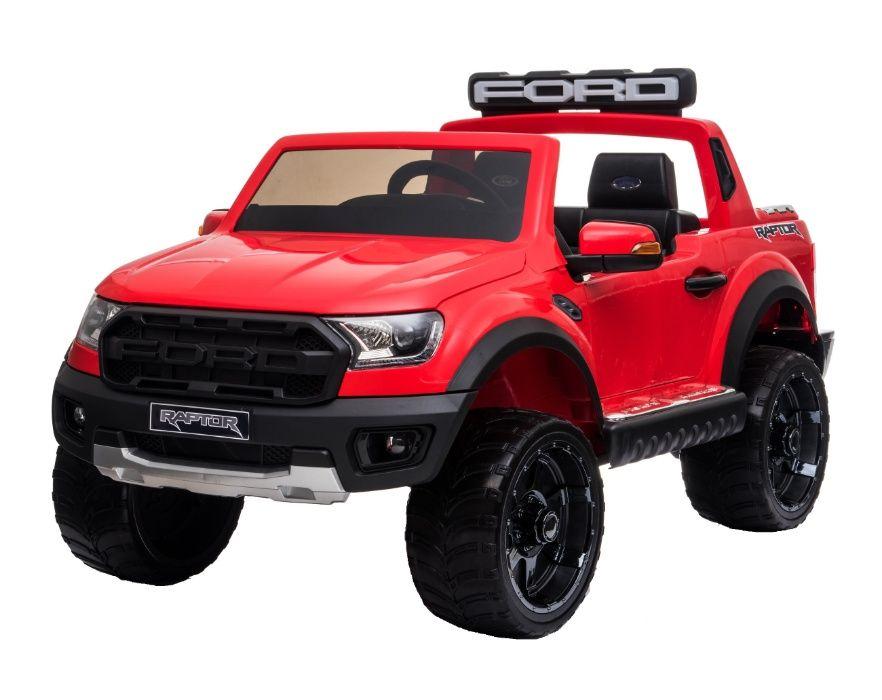 Masinuta electrica Ford Ranger 90W 12V cu Scaun TAPITAT #Rosu