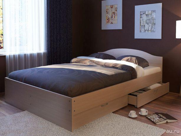 №74 Кровать двуспальная с ящиками (новая)