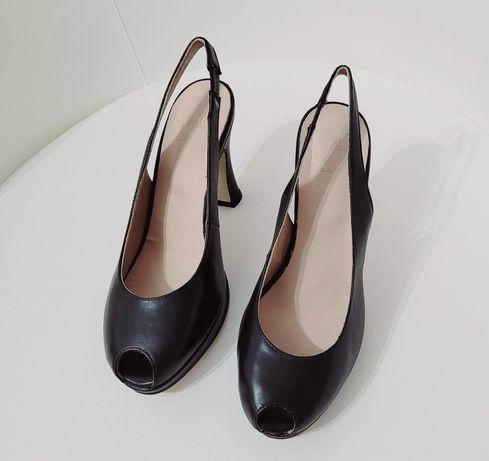 Sandale negre piele 36 noi