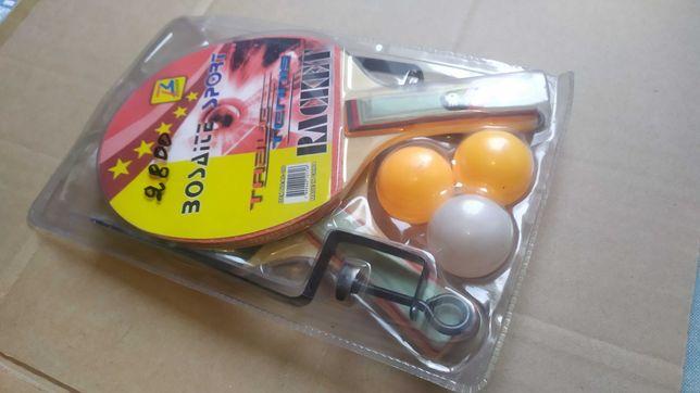 Настольный тенис комплект, ракетки, мячики, сетка