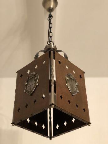 Candelabru de cupru și fier forjat , model gotic