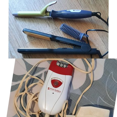 Плойка для волос и керамический утюжок, электроэпилятор Zepter