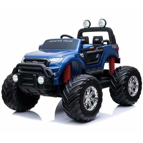 Masinuta electrică pentru 2 copii Ford Monster TRUCK 4x4 24V 7Ah #Blue