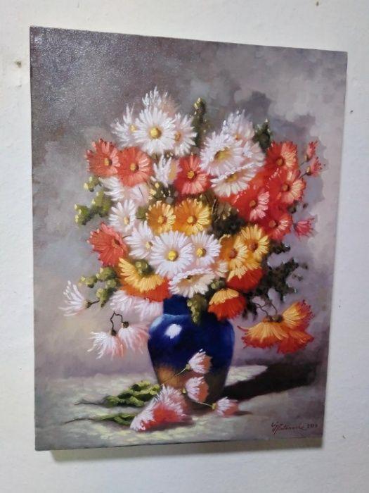 "Tablou ""Crizanteme"" - 30x40 cm Babeni - imagine 1"