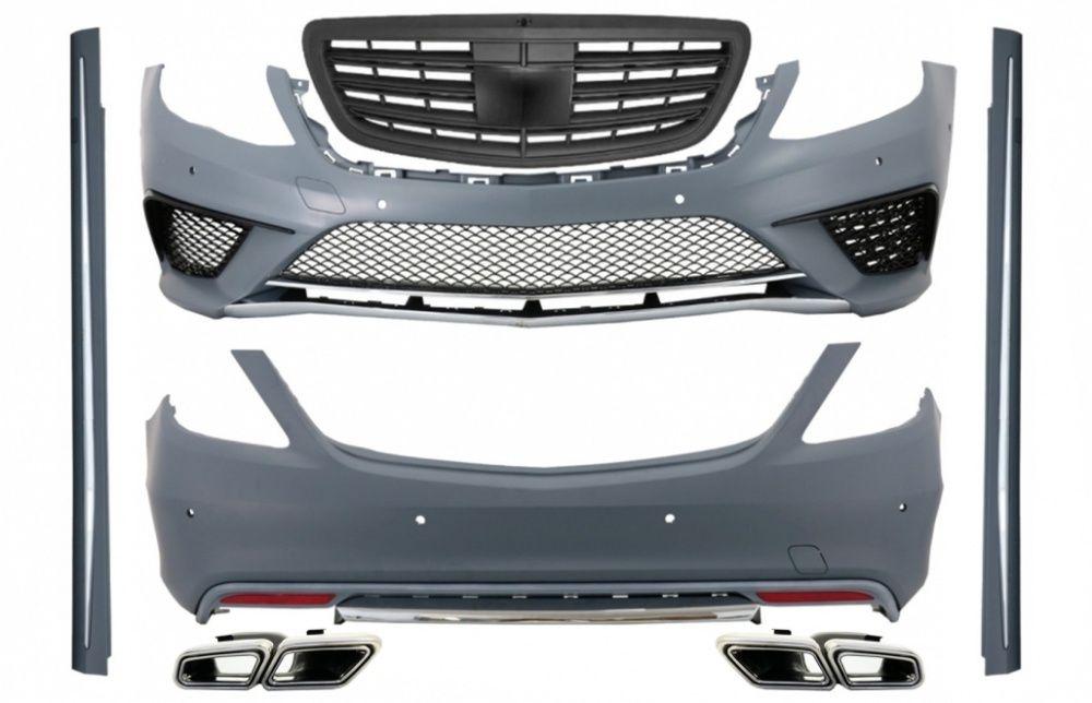 Pachet Complet Mercedes S-Class W222 (2013-06.2017) S63 Design Black Bucuresti - imagine 1