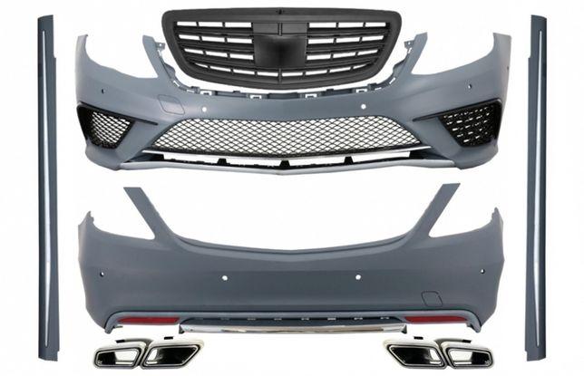 Pachet Complet Mercedes S-Class W222 (2013-06.2017) S63 Design Black