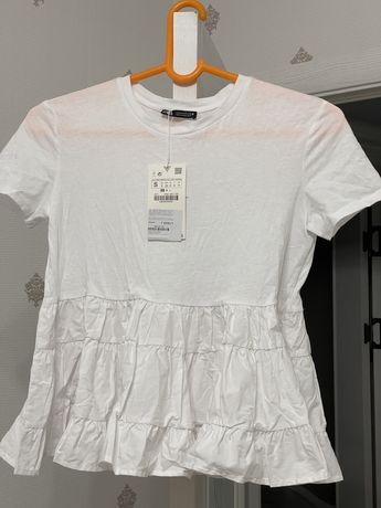 комбинированная футболка от Zara