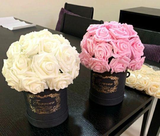 25 fire trandafir roz spuma noi superbe