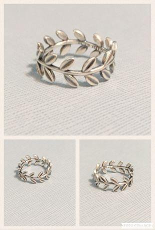 Inel Pandora frunze laur m60 argint 925