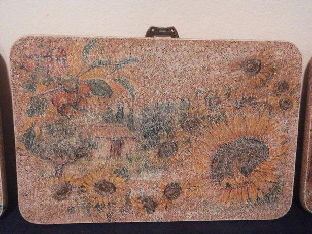"""tablou pe plută - """"Casa florii soarelui"""" - unicat"""