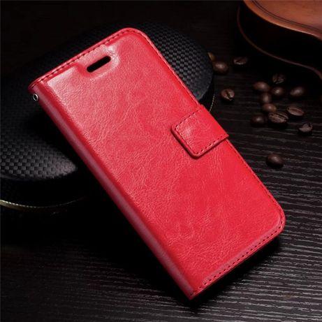Husa Samsung S21, piele fina, tip portofel, magnetica, negru,maro,rosu