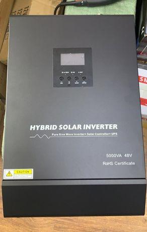 Гибридный инвертор со встроенным контроллером и UPS 4000Вт 48В
