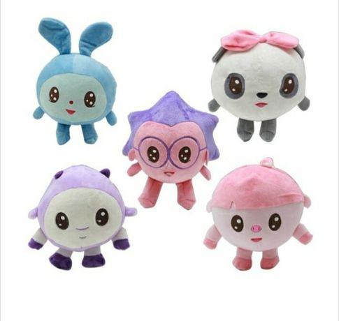 Baby Riki, set 5 jucării de pluș,Pandi,Ariciul,Topa,Grohi, Milu