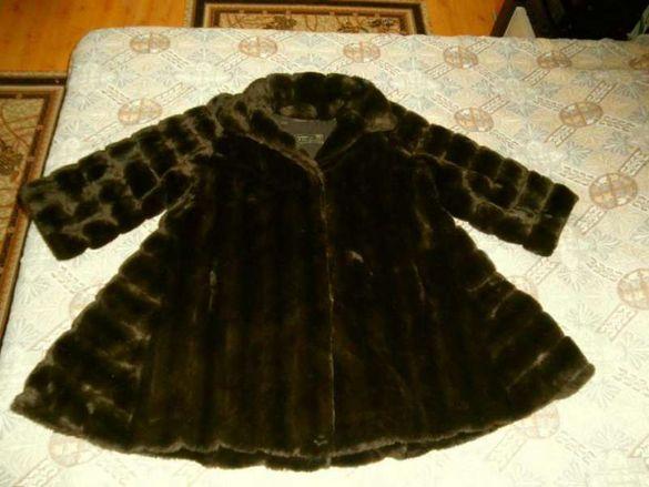 Чисто ново луксозно гръцко еко палто Chris Mousiadis