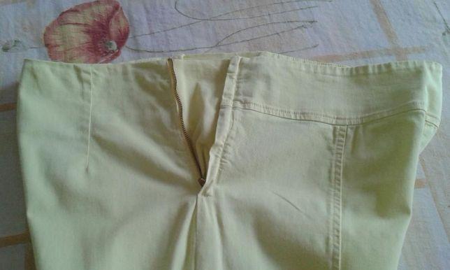 Pantaloni galbeni,pentru femei insarcinate