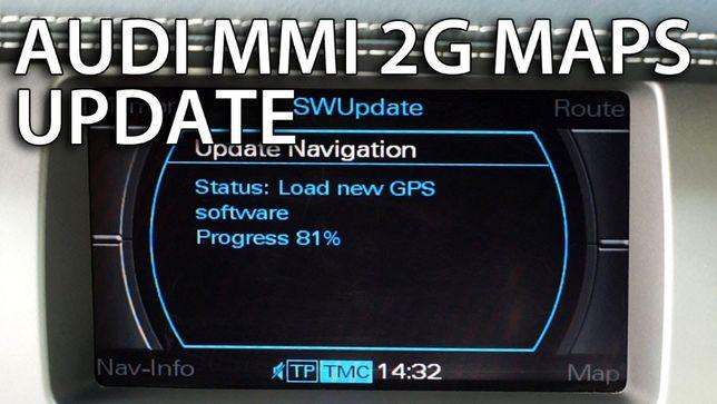 CD/DVD Navigatie AUDI MMI 2G -A4, A5, A6, A8, Q7- Romania update 2020