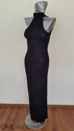 дълга черна бутикова рокля - 80лв.