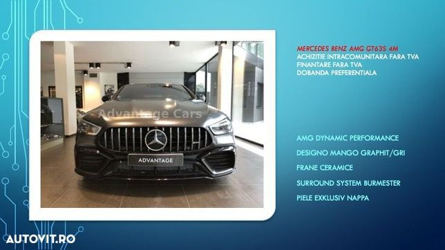 Mercedes-Benz Mercedes Benz AMG GT 63 S 4M./AMG Performance/Posibilitate finantare