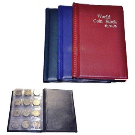 Кожен класьор албум с капачета за 120 монетни, пари, стотинки книга ко