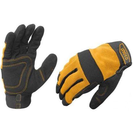 Manusi Protectie din Piele+Textil - INGCO HGMG01-XL